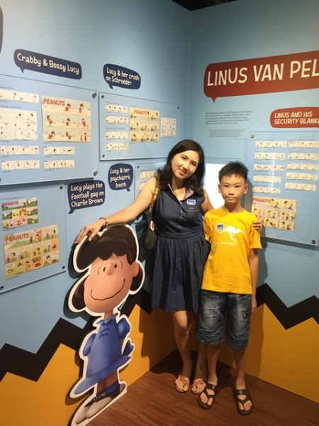 Lucy Van Pelt, a crabby and bossy person........