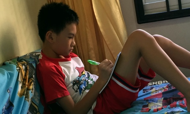 My young writer...........