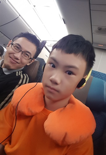 Selfie on the plane