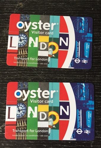2 Oyster Card (cost about SGD 84). Whatever amount was left in the card could be refund at the end of our trip