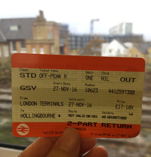 I bought the tickets from London Victoria to Hollingbourne